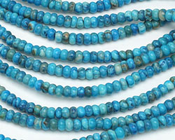 Larimar Blue Crazy Lace Rondelle 4mm