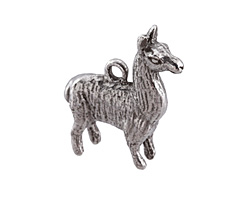 Green Girl Pewter Llama 26x28mm