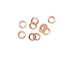 Rose Gold (plated) Jump Ring 5mm, 18 gauge