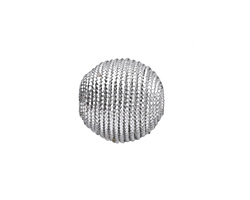 Metallic Silver Thread Wrapped Bead 14mm
