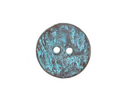 Greek Copper Patina Large Etched Button 20mm
