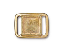 TierraCast Gold (plated) Frame Slide Link 24x17mm