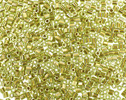 TOHO Peridot (with Gold Lining) Hex 11/0 Seed Bead