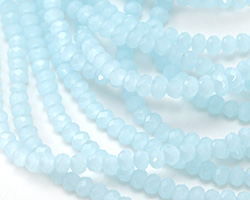 Aquamarine Opal Crystal Faceted Rondelle 3mm
