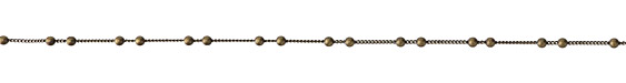 Antique Brass (Plated) Beaded Curb Chain