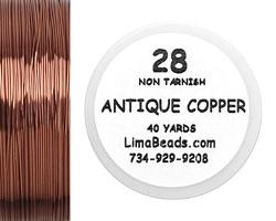 Parawire Antique Copper 28 Gauge, 40 Yards