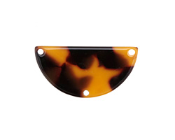 Zola Elements Tortoise Shell Acetate Half Circle Y-Connector 30x15mm