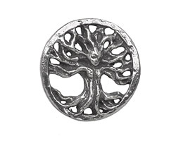 Green Girl Pewter Openwork Tree of Life Pendant 26mm