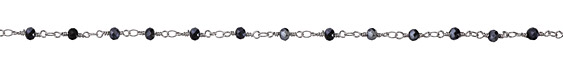Zola Elements Midnight Mix Crystal 4mm Imitation Rhodium (plated) Bead Chain