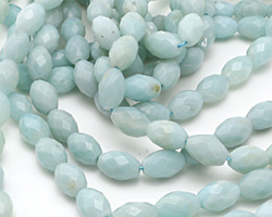 Amazonite Faceted Rice 12x8mm