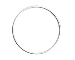 Nunn Design Sterling Silver (plated) Open Frame Grande Hoop 49mm