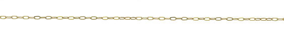 14K Gold Filled Small Flat Paperclip Chain