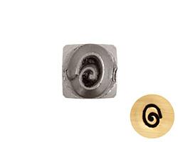 Oblong Spiral Metal Stamp 4mm