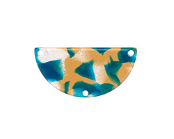 Zola Elements Tide Pool Acetate Half Circle Y-Connector 30x15mm