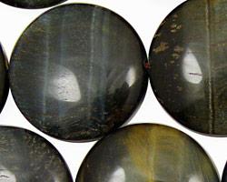 Blue Tiger Eye Puff Coin 30mm
