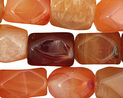 Carnelian (natural) Faceted Nugget 19-21x12-14mm
