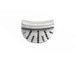Greek Pewter Radiant Semi-Circle Pendant 20x15mm