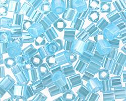 TOHO Ceylon Aqua Cube 4mm Seed Bead