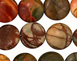 Red Creek Jasper Puff Coin 16mm