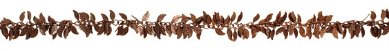 Antique Copper (plated) Falling Leaves Chain