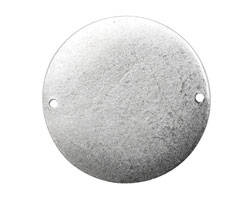 Nunn Design Antique Silver (plated) Flat Grande Circle Tag Link 31mm