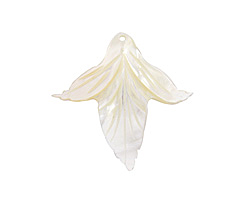 Mother of Pearl Carved Blooming Flower Focal 38x37mm