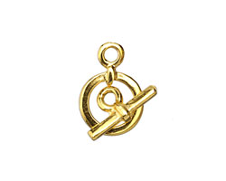 Greek Gold (plated) Small Simple Toggle 13x19mm, Bar 16mm