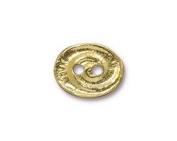 TierraCast Gold (plated) Swirl Button 17.5x14mm