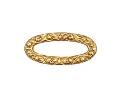 Brass Scrolling Oval Connector 27x12mm