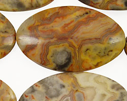 Crazy Lace Agate Horse Eye 40x24mm