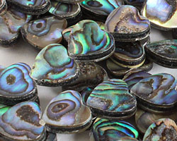 Abalone Heart 12mm