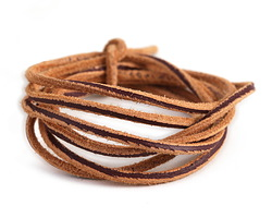 Light Brown Vintage Leather Cord 2mm