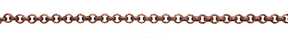 Antique Copper (plated) Vintage Pattern Rollo Chain