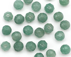 Green Aventurine Faceted Round (Large Hole) 8mm