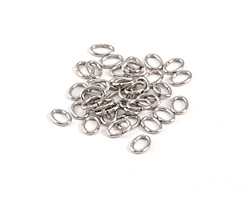 Stainless Steel Oval Jump Ring 7x5mm, 18 gauge
