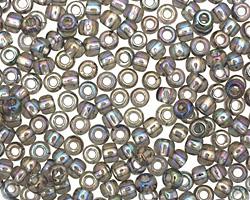 TOHO Transparent Rainbow Black Diamond Round 6/0 Seed Bead