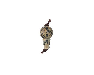 Dalmatian Jasper Round Guru Bead 10mm