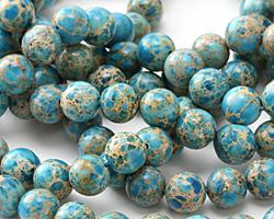 Blue Impression Jasper Round 10mm