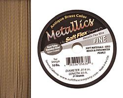 """Soft Flex Antique Brass .014"""" (Fine) 21 Strand Wire 30ft."""