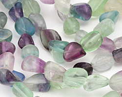 Rainbow Fluorite Tumbled Nugget 10-16x9-14mm