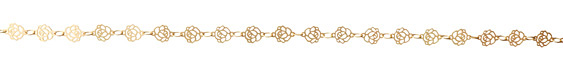 Satin Hamilton Gold (plated) Rose Chain 8x6mm