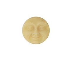 Czech Glass Matte Bisque Moon Face Button 17mm