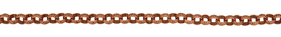 Antique Copper (plated) Patterned Rollo Chain