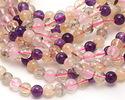 Multi Stone (Rose Quartz, Citrine, Prehnite) Round 6mm