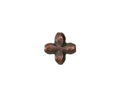 Greek Bronze (plated) Little Flower 13mm