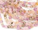 Multi Stone (amethyst, rose quartz, prehnite, citrine) Faceted Round 6mm