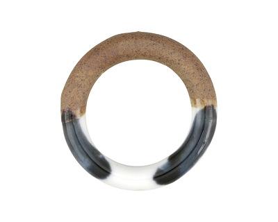 Winter Pine Half-Glazed Porcelain Ring Focal 47-50mm