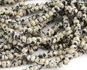 Dalmatian Jasper Faceted Rondelle 3-4mm