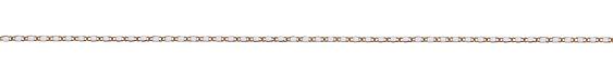 Marshmallow Figure 8 Brass Chain