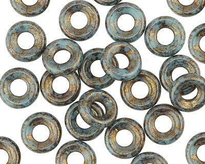 Czech Glass Muddy Waters Ring 9mm
